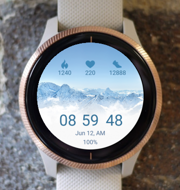 Garmin Watch Face - Mountain W01