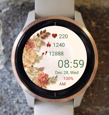 Garmin Watch Face - Flower Watch