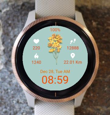 Garmin Watch Face - Autumn Bouquet