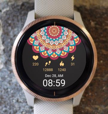 Garmin Watch Face - Heart Mandala G