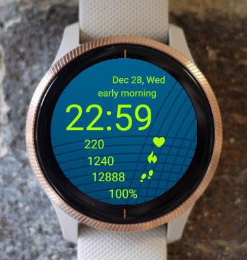 Garmin Watch Face - Neon Bluish