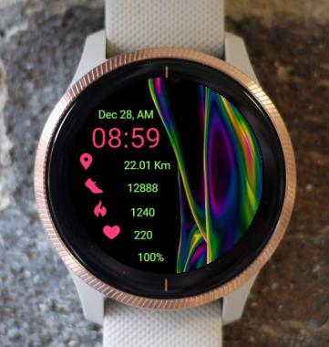 Garmin Watch Face - Acoustic Vibration