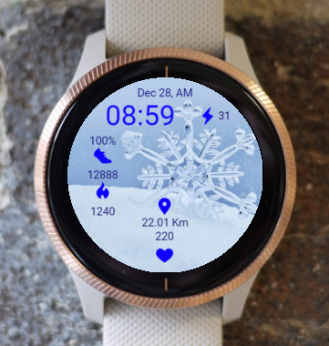 Garmin Watch Face - B R Snow Crystal