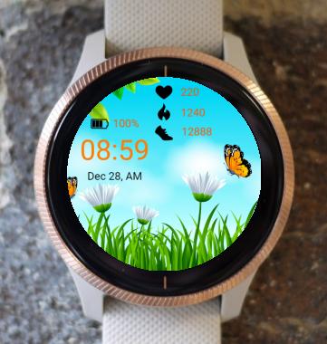 Garmin Watch Face - Spring