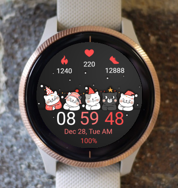 Garmin Watch Face - Christmas Cats