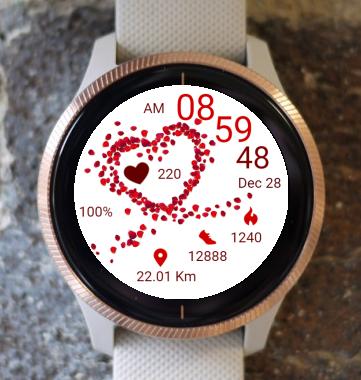 Garmin Watch Face - Petal Heart