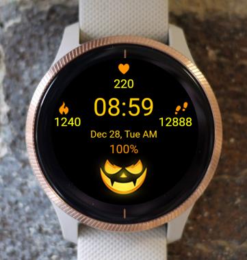 Garmin Watch Face - Pumpkin Lantern