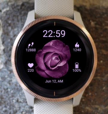 Garmin Watch Face - BW Flower 20
