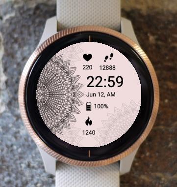 Garmin Watch Face - Mandala X1