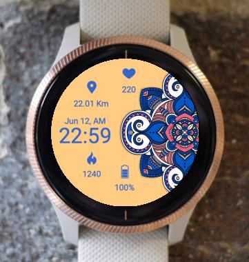Garmin Watch Face - Mandala C5