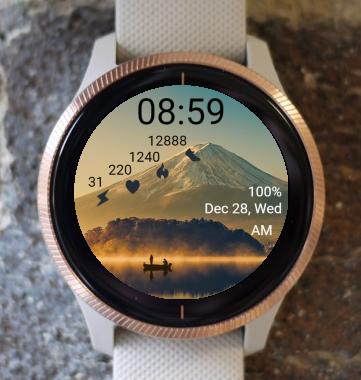 Garmin Watch Face - Mountain 10