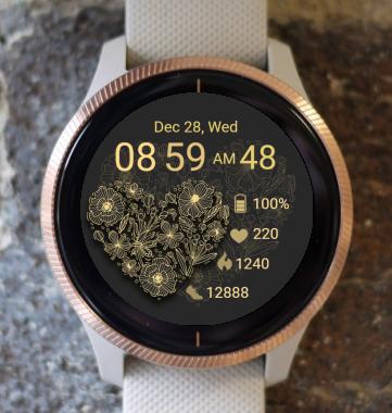 Garmin Watch Face - Gold Heart