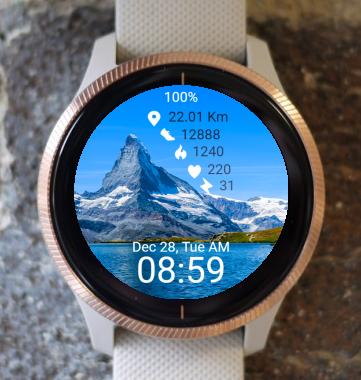Garmin Watch Face - Mountain 09