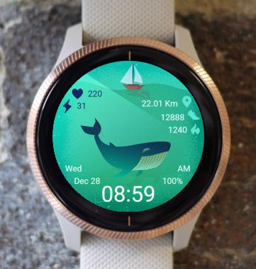 Garmin Watch Face - Whale 04