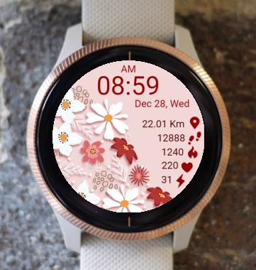 Garmin Watch Face - Flowers 01