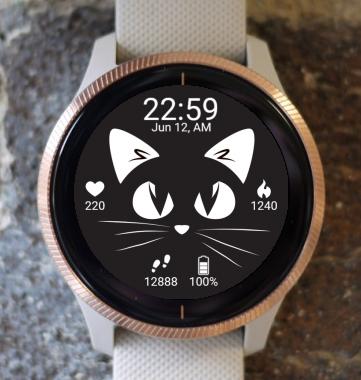 Garmin Watch Face - Cat