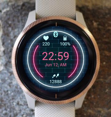 Garmin Watch Face - Neon G