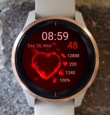 Garmin Watch Face - Red Heart