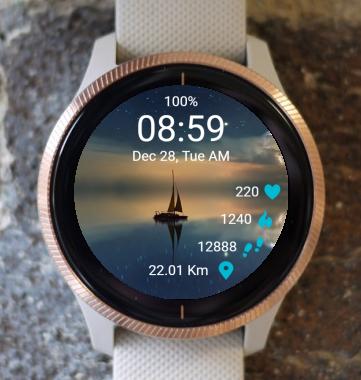 Garmin Watch Face - Sailboat