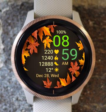 Garmin Watch Face - Autumn Leaves 01