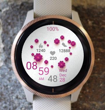 Garmin Watch Face - Flower Heart
