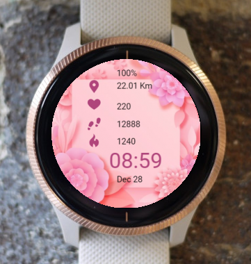 Garmin Watch Face - In Pink Harmony