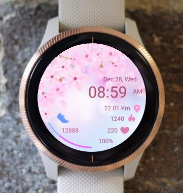 Garmin Watch Face - Pink Life