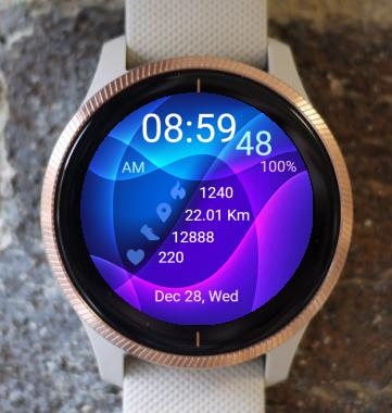 Garmin Watch Face - Cross Waves