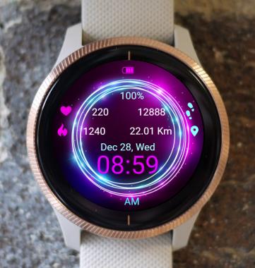Garmin Watch Face - Neon Circle