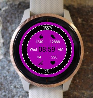 Garmin Watch Face - Pink Active