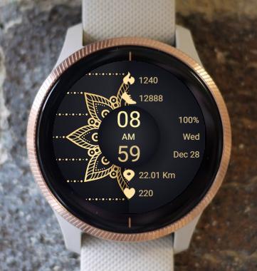 Garmin Watch Face - Mandala G16