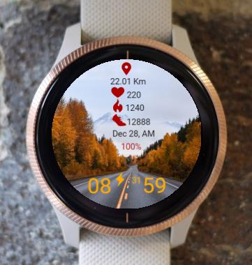 Garmin Watch Face - Road In The Fall