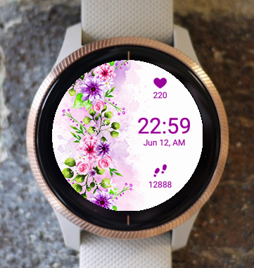 Garmin Watch Face - Gareta Flower Wall