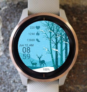 Garmin Watch Face - Winter Forest