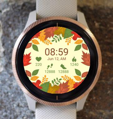 Garmin Watch Face - Autumn Forest Leaves G
