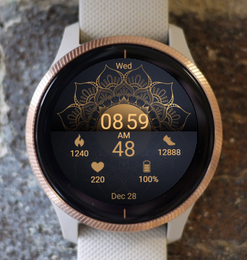 Garmin Watch Face - Mandala G2
