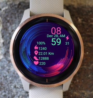 Garmin Watch Face - Active Waves