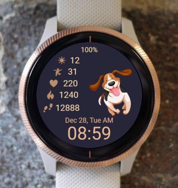 Garmin Watch Face - Poppy Time