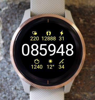 Garmin Watch Face - Clear G