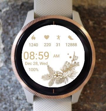 Garmin Watch Face - White Smooth