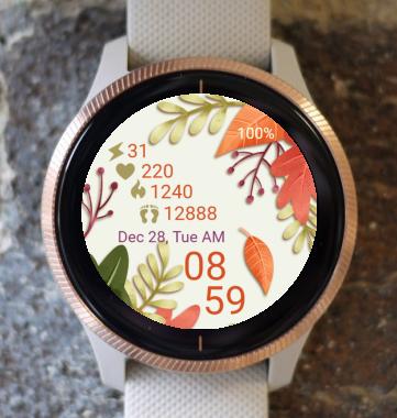 Garmin Watch Face - Autumn Leaves 04
