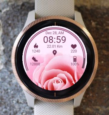 Garmin Watch Face - RR Pink Rose