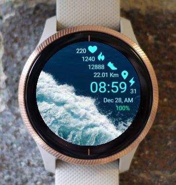 Garmin Watch Face - Blue Sea
