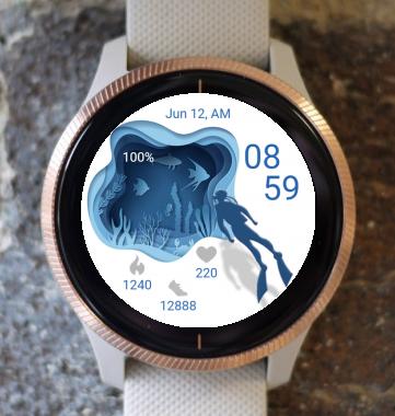 Garmin Watch Face - Diver 01