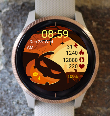 Garmin Watch Face - Halloween Pumpkin