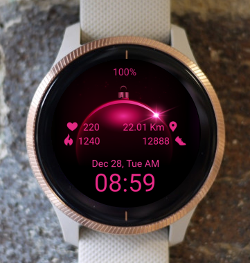 Garmin Watch Face - Pink Eclipse