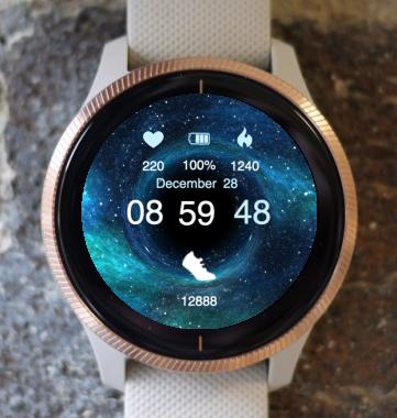 Garmin Watch Face - Wormhole