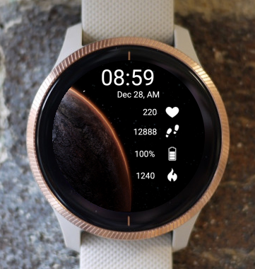 Garmin Watch Face - New Space