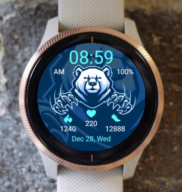 Garmin Watch Face - Polar Bear