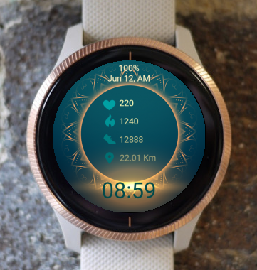 Garmin Watch Face - Mandala C24